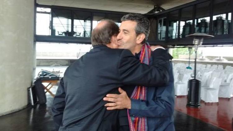 Apareci randazzo y se dio un abrazo con sanz pol tica for Declaraciones del ministro del interior hoy