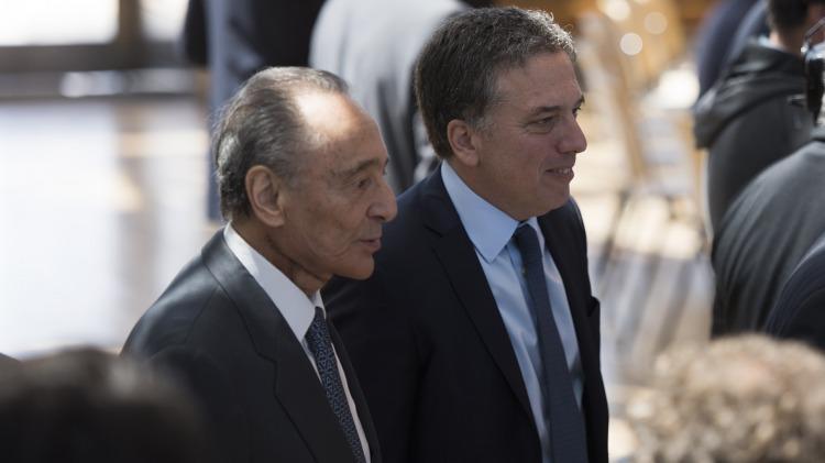 Magnetto junto al ministro de Hacienda, Nicolás Dujovne