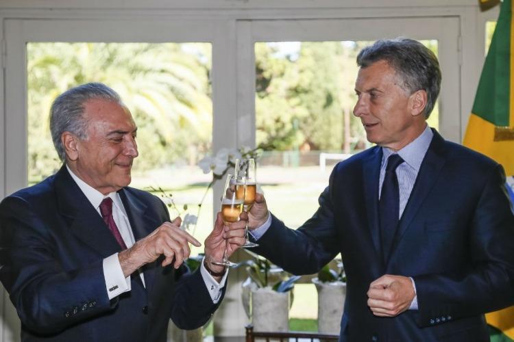 Temer elogió a Macri por el recorte jubilatorio: