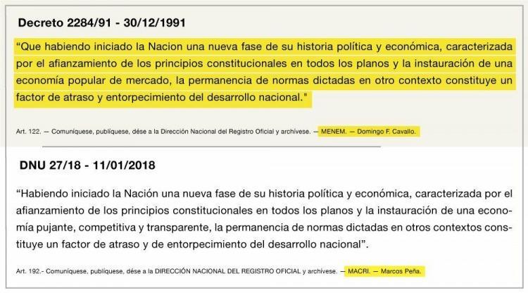 Pedirán la derogación del mega decreto de Macri