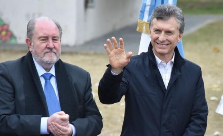 Carlos Verna (La Pampa) y Mauricio Macri