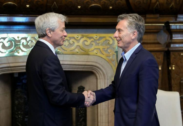 Macri y Ceo JP Morgan