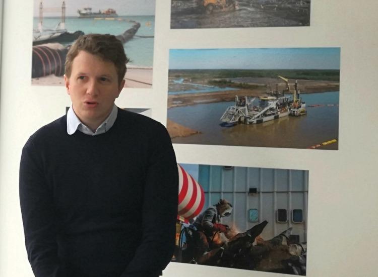 Pieter Jan de Nul, director para la Argentina, Uruguay y Paraguay de la empresa belga que lleva su apellido