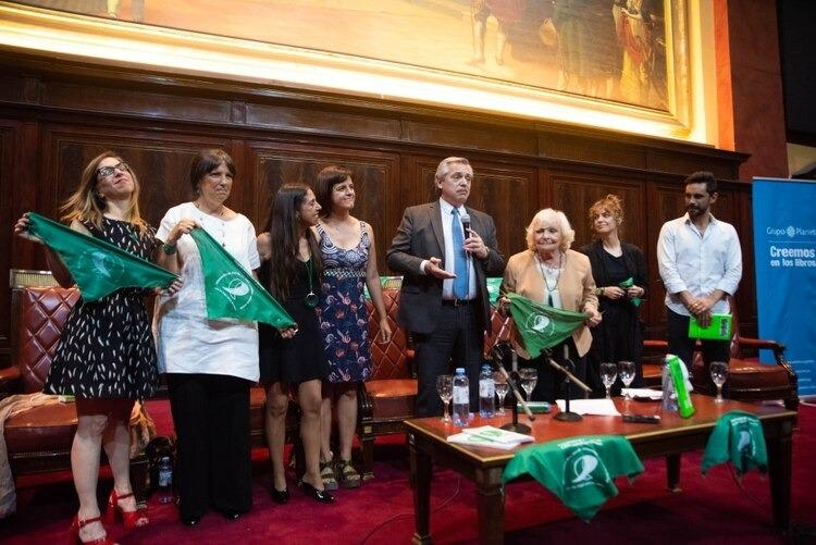 Alberto Fernández volvió a manifestarse a favor de la legalización del aborto