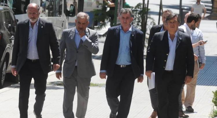 Chemes, Iannizzotto, Achetoni y Pelegrina, en el Ministerio de Agricultura. Foto: Guillermo Rodríguez Adami
