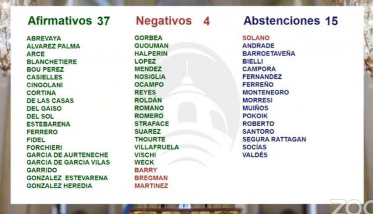 Los que votaron a favor, los que votaron en contra y los que por convencimiento u omisión se abstuvieron....