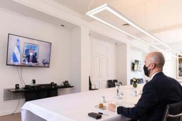 Alberto Fernández encabezó el almuerzo virtual con el enviado de Joe Biden
