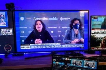 Ibarra y Vizzotti respaldaron el proyecto de emergencia sanitaria en el Senado
