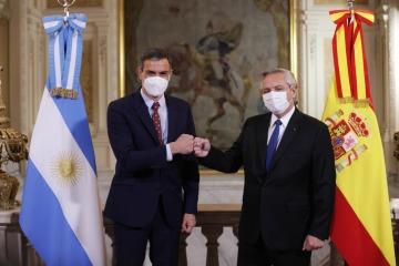 Alberto Fernández recibió a Pedro Sánchez para fortalecer la relación de Argentina con España