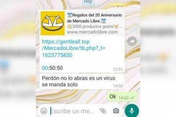 Mercado Libre alerta por una estafa vía whatsapp