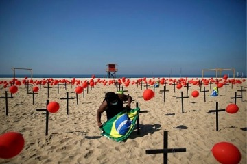 En medio de la Copa América, Brasil superó el medio millón de muertos por Covid 19