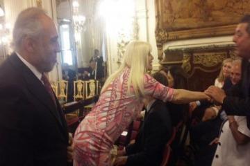 Susana Giménez acompaña a Macri en la Casa Rosada