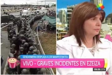 La justificación de Patricia Bullrich al desalojo de Gendarmería en la Ricchieri