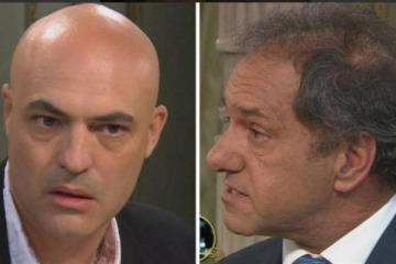 Tenso cruce entre Daniel Scioli y el papá del chico que mató a un ladrón