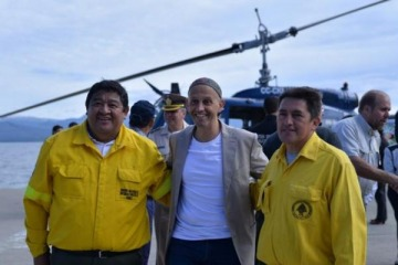 "Bergman denunciado penalmente por contratar ""a dedo"" helicópteros anti incendios"
