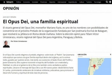 La insólita columna del Opus Dei en Télam