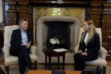 Mientras Milagro Sala sigue presa con apoyo oficial, Macri recibió a la esposa de un dirigente venezolano detenido