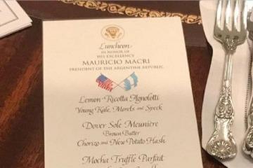La increíble chicana de Trump en el menú del almuerzo en honor a Macri