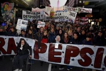 Contra la represión y los despidos: miles se movilizaron en apoyo a los trabajadores de Pepsico