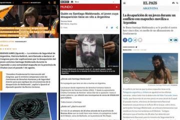 Fuertes repercusiones y cuestionamientos contra Bullrich en medios del mundo por el joven desaparecido