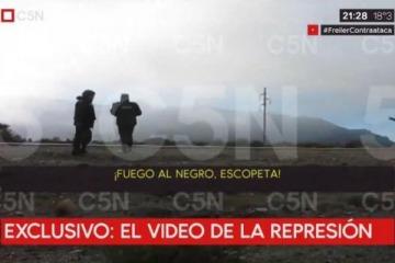 """Difundieron el video de la represión de Gendarmería: """"Tirale al negro, escopeta"""""""