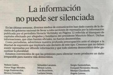 """Periodistas denuncian que las """"presiones para silenciar voces"""" dañan la democracia"""