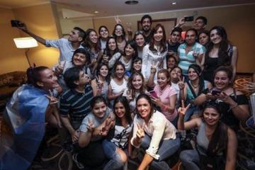 CFK se reunió con sindicatos de la CGT, organismos de derechos humanos y científicos