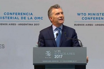 """Macri inauguró la conferencia de la OMC y pidió """"renovar el compromiso con el sistema multilateral de comercio"""""""