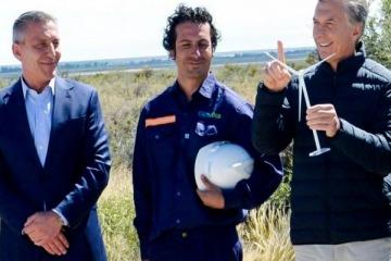 Macri hizo una pausa en sus vacaciones para inaugurar un parque eólico