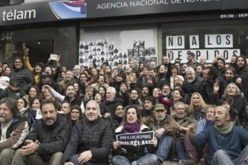 Organismos de derechos humanos organizan un abrazo a Télam