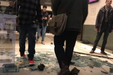 Brutal ataque al ND Ateneo cuando se estrenaba el documental de Santiago Maldonado