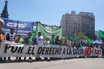 Trabajadores y trabajadoras de todo el país marchan en defensa de la Salud Pública