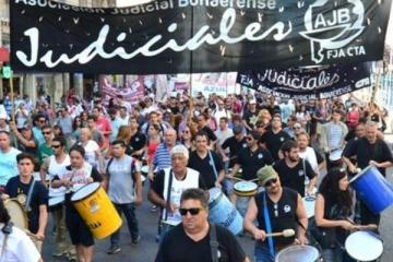 Los trabajadores judiciales realizarán un nuevo paro y movilización en La Plata