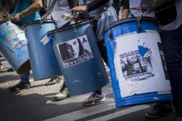Los docentes movilizaron a Plaza de Mayo en el comienzo de 72 horas de paro