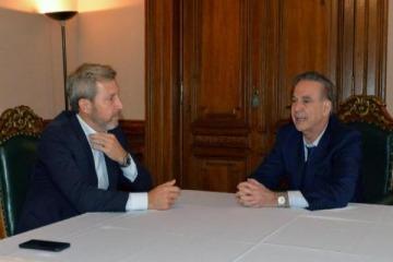 Pichetto se reunió con Frigerio para hablar más de Venezuela que de Argentina