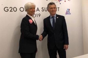 Pese a la caída de la actividad económica, Lagarde sostuvo que su programa para Argentina está dando resultados