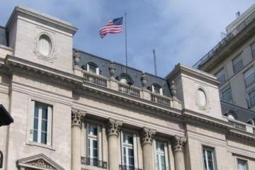 Fiesta de disfraces en la embajada de EEUU
