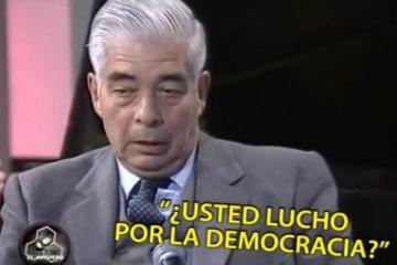 """La concesiva entrevista del periodista que interrogó a Alberto Fernández al """"querido general"""" Luciano Menéndez"""