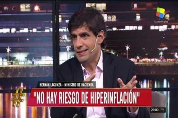 """De gira por TV, Lacunza aseguró que """"no hay riesgo de un corralito"""""""