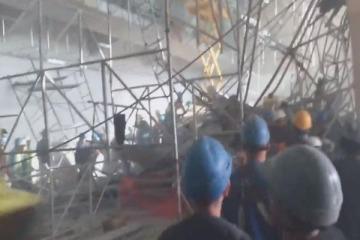 Derrumbe en el aeropuerto de Ezeiza: un muerto y heridos en una obra que el Gobierno prometía para el mes pasado