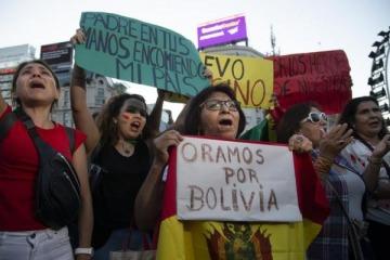 Golpe en Bolivia: marcha en repudio al ataque a la democracia en la región y la persecución a Evo