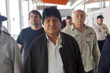 La primera aparición pública de Evo Morales en Buenos Aires