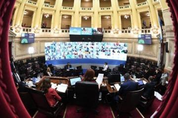 Sesionan el Senado y Diputados para lograr las primeras tres leyes de la era virtual por el coronavirus