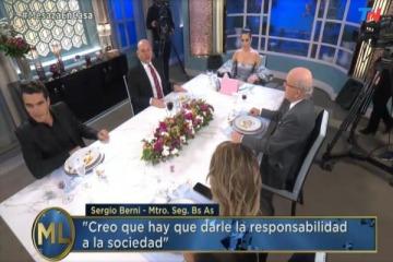 Sin diálogo: Juana Viale hizo callar a Sergio Berni cuando analizaba las contradicciones de los medios