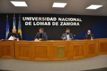 Inversión en universidades: Katopodis, Perczyk y Molea firmaron convenio de infraestructura para la UNLZ