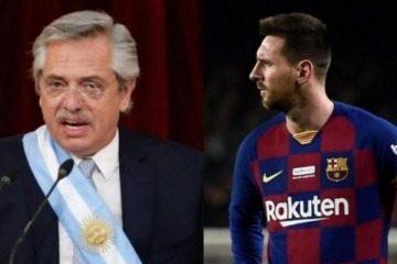 Qué le pidió Alberto Fernández a Lionel Messi ante su inminente salida del Barcelona de España