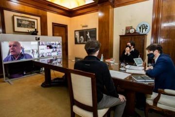 """Kicillof presentó un plan de obras públicas de $725 millones para municipios e hizo un llamado a """"trabajar en unidad"""""""