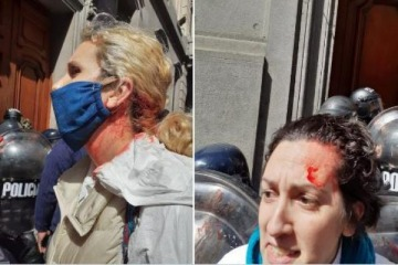 En el Día de la Sanidad, la policía de la Ciudad reprimió a enfermeros que se manifestaban en la Legislatura