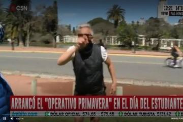 El video de la violenta agresión a un periodista de C5N en Palermo ante la inacción de la policía porteña