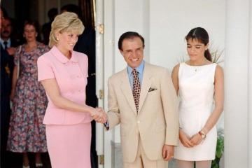 Efecto The Crown: el día que Lady Di se dio la mano con Menem en Olivos y la premonitoria charla con Zulemita